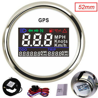 $65.08 • Buy 52mm GPS Speedometer Gauge 0~999 MPH Knots Km/h For Car Truck Boat Motorcycle