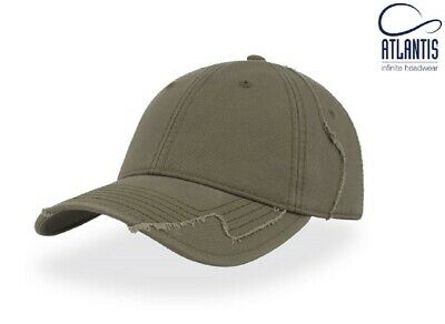 £8.95 • Buy Mens Vintage Distressed-Look Military Cotton Baseball Cap Olive Green Army