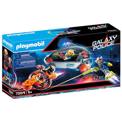 Playmobil 70019 Galaxy Police Space Shuttle With Missiles • 32.99£