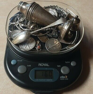 $ CDN83.23 • Buy Scrap Or Wear Repair Sterling Silver Lot Bracelets Coins Spoon 925