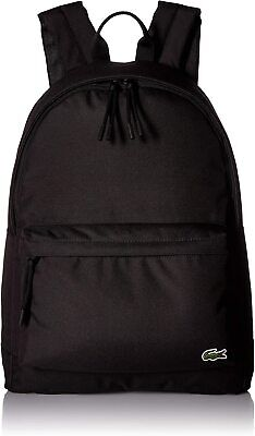 £71.98 • Buy Lacoste Unisex Neocroc Classic Solid Canvas Backpack, Black