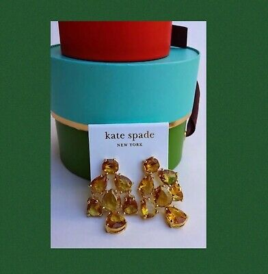 $ CDN60 • Buy Kate Spade New York Gold Earrings + Gift Box Set Authentic Costume Jewelry