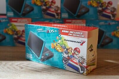 $ CDN197.72 • Buy Nintendo 2ds XL Black Turquoise Handheld Console With Mario Kart 7 - Brand New