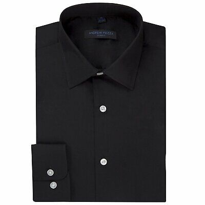 $12.99 • Buy Andrew Fezza Men's Slim Fit Long Sleeve Solid Cotton Dress Shirt -Closeout Price