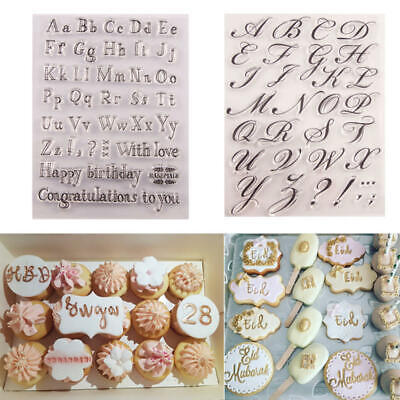 AU10.99 • Buy Fondant Cake Alphabet Letter Cookies Biscuit Stamp Embosser Mold Cutter Decor