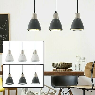 Pendant Lamp Ceiling 3 Lights Adjustable Hanging Cord Metal Shade Dining Black • 24.68£