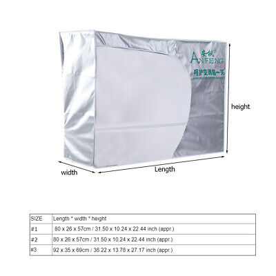 AU16.90 • Buy Outdoor Air Conditioner Cover Anti-Dust Anti-Snow Waterproof Sunproof Home