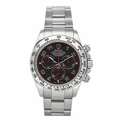 $ CDN35460.81 • Buy Rolex Cosmograph Daytona White Gold Mens Oyster Bracelet Watch Chrono 116509