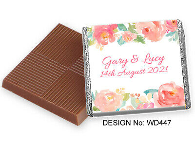 £15.99 • Buy 100 Personalised Quality Chocolate Favours, Huge Range READY WRAPPED & FREE POST