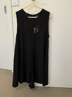 AU4 • Buy Ladies Black One Piece Jumpsuit  Size 10 Into Ramsey Flow Brand New With Tags