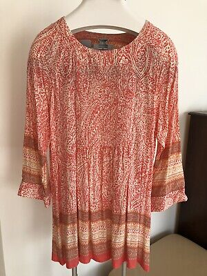 AU35 • Buy State Of Mind Dress/tunic/kaftan/beach Cover Up Size L
