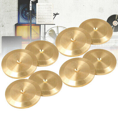 8pcs Copper Alloy Shockproof Turntable Recorder Isolation Feet Speaker Spike Pad • 7.62£