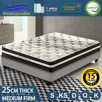 AU189 • Buy Queen Double King Single Mattress Pocket Spring Foam Medium Firm DREAM PARADISE