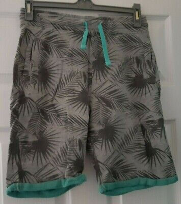 Boys Grey With Funky Palm Print Shorts Age 12-13 • 6£