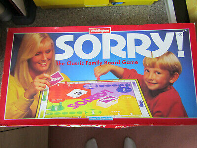 1994 Waddingtons Sorry Childrens Board Game 100% Complete  • 16.95£