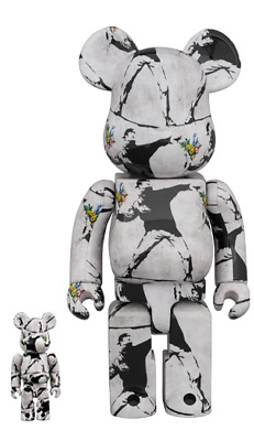 $422 • Buy Medicom BE@RBRICK 2020 Banksy Flower Bomber 100 & 400 Set Bearbrick Japan New