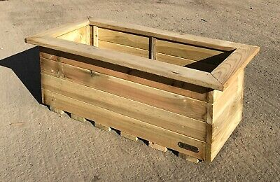Simply Wood Signature Tanilised Trough Wooden Garden Planter – Extra Large • 49.99£