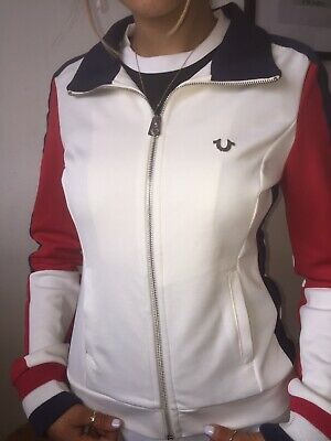 True Religion Womens 3 Block Multi Colour Jacket. Navy/Red & Off White. • 40£