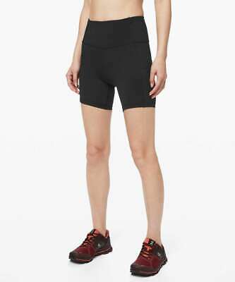 $ CDN59.32 • Buy Lululemon Fast Free Short 6  / Size 12 / Non-Reflective Black Nulux High Rise