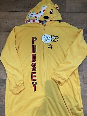 Adults Children In Need Hooded Pudsey Bear George Onesie Not Gerber Size M New • 13.99£