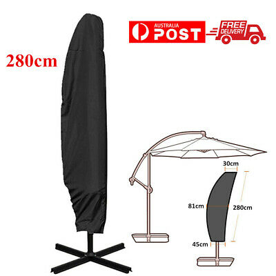 AU22.99 • Buy Outdoor Banana Umbrella Cover Garden Patio Cantilever Parasol Protective 280CM