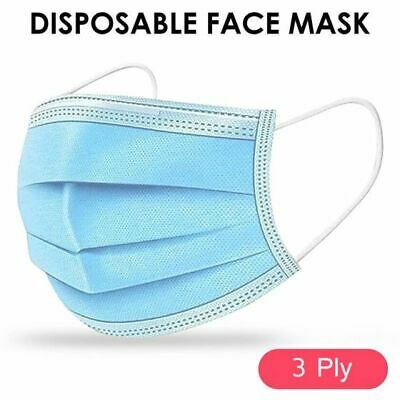 20x Face Mask 3Ply Disposable Surgical Mouth Covering Protection Masks Shield UK • 3.99£