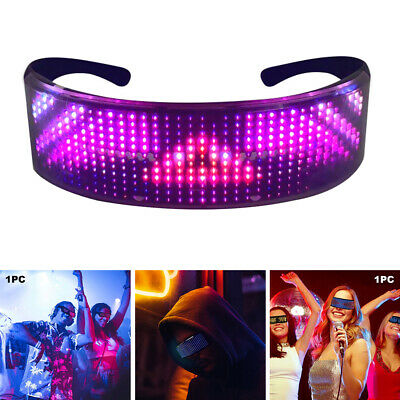 DJ Bluetooth LED Glasses DIY Light Up Glowing Eye Glasses Club Party • 23.61£
