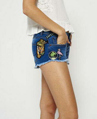 £16 • Buy Superdry Womens Patches Denim Hot Shorts