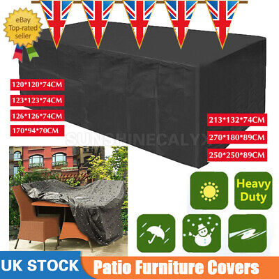 Outdoor Cover Garden Furniture Waterproof Patio Rattan Table Chair Cube Set Park • 19.99£