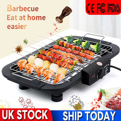 £23.99 • Buy Electric Table Top Grill BBQ Barbecue Garden Camping Cooking 2000W Indoor/Outdoo