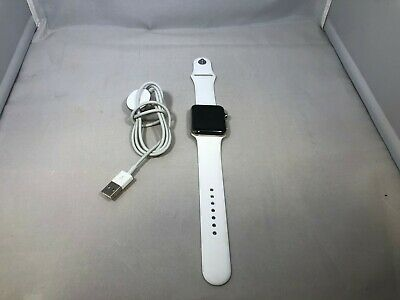$ CDN200 • Buy Apple Watch Series 2 Silver Stainless Steel 42mm W/ White Sport Very Good Cond