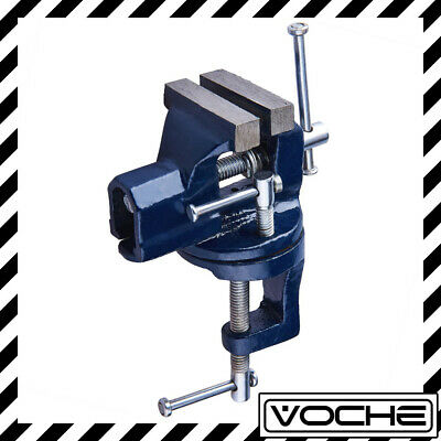 £11.50 • Buy VOCHE® 60mm WIDE MINI CLAMP ON BENCH VICE WITH SWIVEL BASE TABLE TOP WORK BENCH