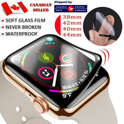 $ CDN5.49 • Buy For Apple Watch Series 1 2 3 4 5 6 SE - Premium Curved 3D Black Screen Protector