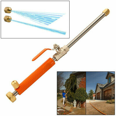 Metal Alloy Water Jet Power Washer Pressure Water Nozzle Lance For Garden Hose • 10.99£