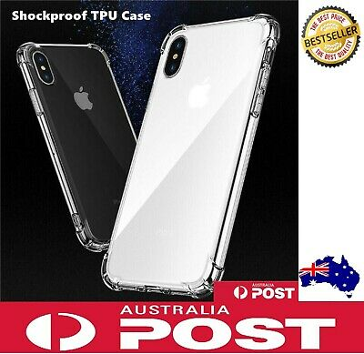 AU2.90 • Buy TPU Clear Shockproof Bumper Back Case Cover For IPhone XS MAX X 6 6S 7 8 Plus AU