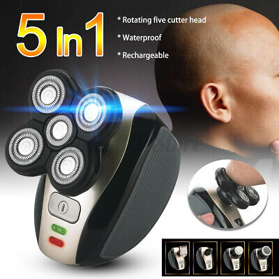 AU30.37 • Buy 5in1 Men's 4D Electric Shaver Rechargeable Cordless Head Clipper Trimmer Blade
