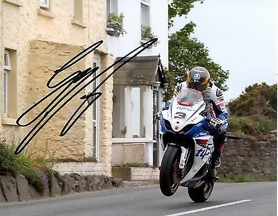 £25 • Buy Guy Martin - 2012 Isle Of Man TT Rhencullen Autographed 10 X 8 Picture.