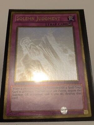 AU65 • Buy Solemn Judgment - GLD5-EN045 - Ghost Rare Yu-Gi-Oh! Card