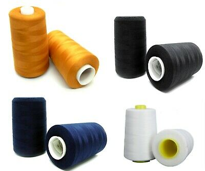 £8.39 • Buy STRONG Thread 5000m Big Cone Reel Hand And Machine Sewing Jeans Corduroy