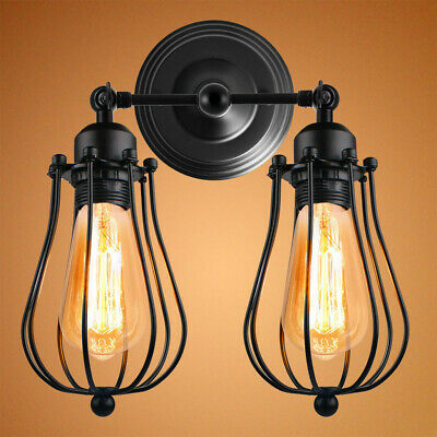 £14.38 • Buy Modern Vintage Retro Industrial Lights Rustic Sconce Lamps Wall Mounted Fixture
