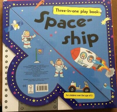 Space-Ship    Age Of 3 Three In One Play  Book • 9.99£