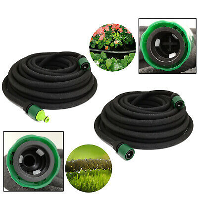 30m / 98ft GARDEN & LAWN IRRIGATION WATERING PERFORATED SOAKER HOSE PIPE • 11.95£