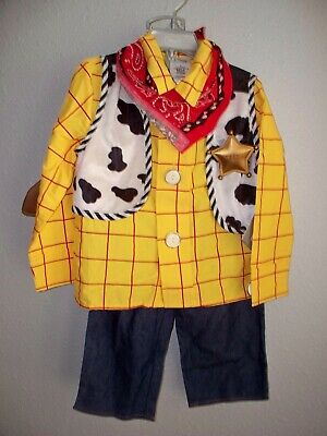 £29.24 • Buy New Disney Store Toy Story Woody Costume 6 Pieces Size 4