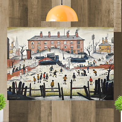 LS Lowry The Cricket Match People Canvas Wall Art Print Artwork Painting • 32.99£