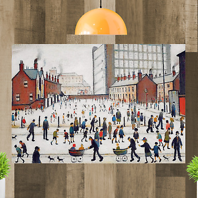 LS Lowry Winter In Pendlebury Canvas Wall Art Print Picture Painting Framed • 29.98£