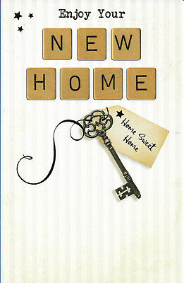 "New Home Greeting Card 8"" By 5"" Key Design Free P+p • 1.99£"
