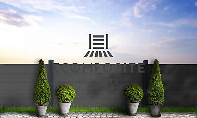 Composite Plastic Wood Fencing Panel, WPC Fencing, Fencing Panel (Slate Grey) • 13.50£