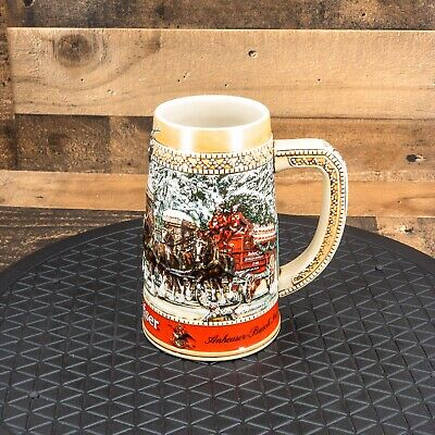$ CDN18.85 • Buy Budweiser Stein C Series 1987 Holiday Collector Series Clydesdales Scene Ceramic