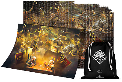 $ CDN37.50 • Buy THE WITCHER 3 PUZZLE JIGSAW PLAYING GWENT + POSTER 1000 Pcs NEW BOX CIRI GERALT