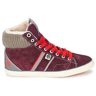Superdry Women Hammer High Boots Beet Red Hidden Wedge Leather Shoes UK 4 RRP£65 • 44.35£